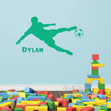aliexpress com buy baby nursery boys name wall sticker football aliexpress com buy baby nursery boys name wall sticker football player name wall decal boys name stickers for kids room cut vinyl stickers c23 from