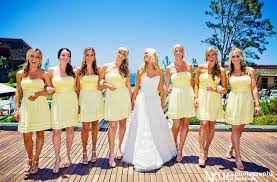 yellow bridesmaids dresses from our blog pinterest yellow