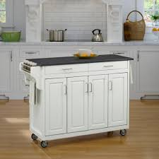 Crosley Steel Kitchen Cabinets Crosley White Kitchen Cart With Stainless Steel Top Kf30022ewh