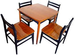 furniture stunning danish modern game table set style tables fec