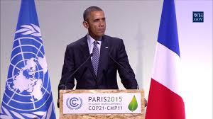 Paris Flag Image Barack Obama Bei Der Eröffnungssitzung Der Weltklimakonferenz