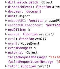what do the colors mean what do the colors mean in chrome developer tools scope panel