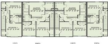 Multi Unit Apartment Floor Plans Attractive Four Apartment Dwelling 60557nd Architectural