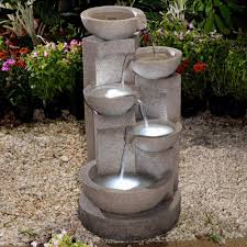 outdoor water features with lights jeco pots water outdoor fountain with led light hayneedle