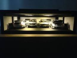 display case led lighting systems garage display case with led lights system for scale 1 18 car models
