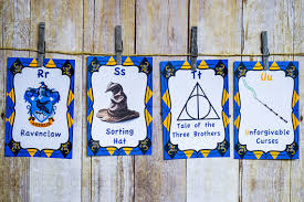 Harry Potter Ravenclaw Abc Cards Harry Potter Nursery Room