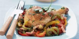 cuisiner cuisse de poulet cuisse de poulet basquaise facile et pas cher recette sur cuisine