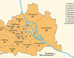 Vienna Map Vienna Wien Bezirke Map By District Numbers Austria Maps And