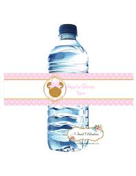 pink and gold minnie mouse water bottle labels 20 disney baby