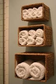 Hanging Baskets For Bathroom Storage Towel Rod Hanging Baskets For Bathroom Storage By