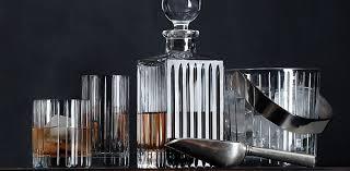 barware sets boulevard cut crystal barware collection rh