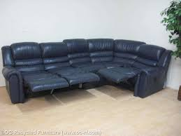 navy blue recliner sectional sofa used furniture recycled couches