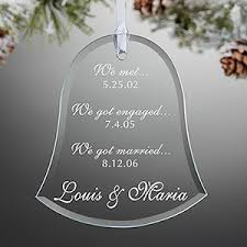 personalized glass ornaments special dates