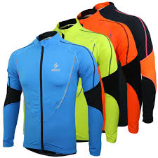 cycling coat arsuxeo winter warm fleece running fitness excercise jersey