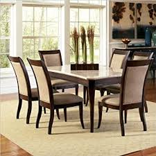 Dining Room Tables Set Amazon Com Steve Silver Company Marseille 7 Piece Marble Top