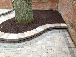 Paver Patio Edging Options Garden Walls And Flower Beds Belgard Weston Wall Paver