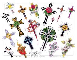 18 blood heart colorful cross temporary tattoo designs egyptian