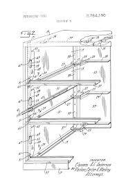 Lateral Filing Cabinet Rails by Patent Us3764190 Lateral File Google Patents
