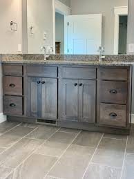 hickory grey stained kitchen cabinets ivory painted cabinet kitchen with gray stained hickory