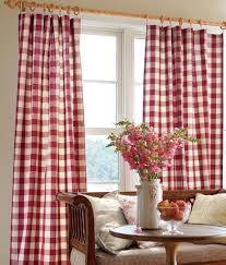 rod pocket curtains drapes buffalo check panel country curtains