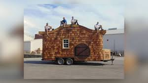 incredible tiny homes the hobbit house on wheels youtube