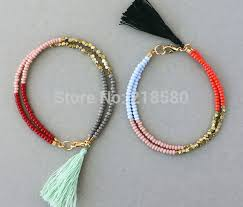 color bead bracelet images B1506131507 two colors boho jewelry bead trible friendship jpg
