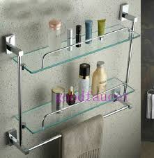 wholesale and retail new wall mounted chrome bathroom shelves