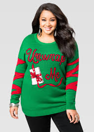 light up unwrap me holiday sweater plus size ugly christmas