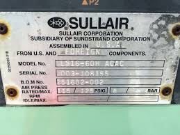 item sullair ls 16 75h acac on compressed air systems inc