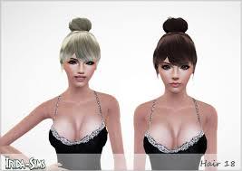 ballerina bun with bangs hair 18 by irida sims 3 hairs
