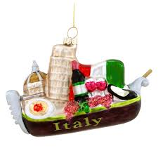 5 inch italy gondola glass ornament ethnic pride