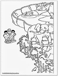 zoo coloring pages coloring page