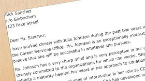 examples of resume references recommendation letter sample for business school