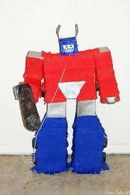 optimus prime pinata transformer cake and party s crafty