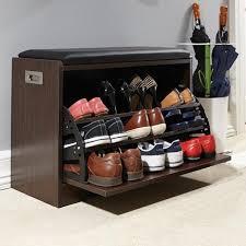 shoe storage ottoman bench shoe storage deluxe shoe ottoman bench easylife throughout shoe
