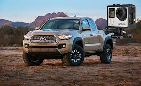 where is the toyota tacoma built 2016 toyota tacoma to come with a built in mount for gopros