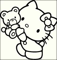 printable hello kitty coloring pages for children color zini