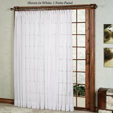 Patio Door Curtains Splendor Semi Sheer Pinch Pleat Patio Panel
