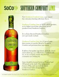 What Proof Is Southern Comfort Southern Comfort Lime Sell Sheet By Drew Mccarver On Deviantart