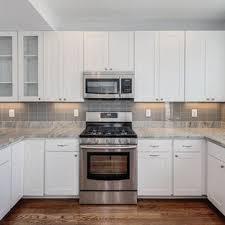 kitchen backsplash ideas with white cabinets houzz gray glass backsplash houzz