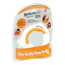 Samurai Kitchen Knives Samurai 360 Cutting Blade Rotary Cutter Rolling Kitchen Knife Ebay