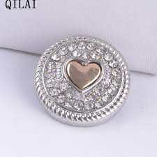 aliexpress buy new arrival 10pcs silver gold aliexpress buy new arrival 10pcs lot rhinestone snap button