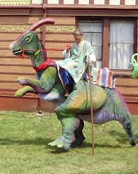 Stilt Costumes Halloween Dinosaur Character Stilt Walker Stilts Walk Tall