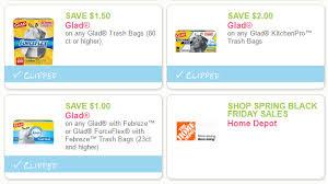 home depot printable coupon black friday 2017 save 4 50 on glad trash bags new printable coupons