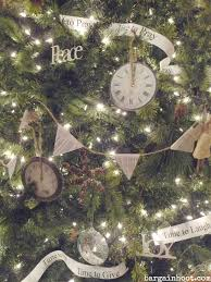clock ornament and other tree decor