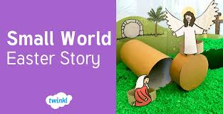 twinkl writing paper easter story small world