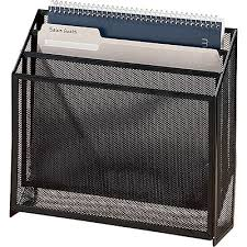 Rolodex Desk Accessories Eldon Black Mesh 3 Tier Organizer Quill