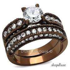 Chocolate Diamond Wedding Ring Set by Women U0027s Wide Band Engagement Rings Collection On Ebay