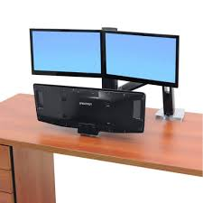 ergotron workfit a with suspended keyboard dual monitor mount