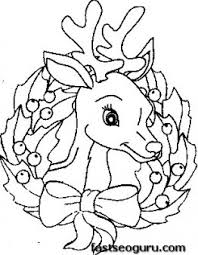 printable coloring pages christmas reindeer face printable